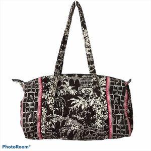 Vera Bradley Brown Imperial Toile Duffle Bag